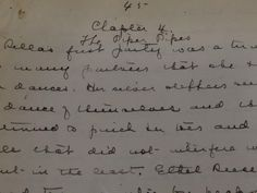 """Rilla of Ingleside"" manuscript, University of Guelph Library, photo by Bernadeta Milewski"