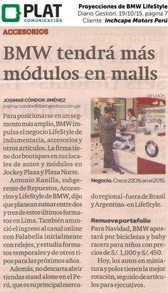 Inchcape Motors: Proyecciones de BMW LifeStyle en el diario Gestión de Perú (19/10/15)