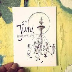Was gister niet in de gelegenheid deze te posten. Plan was om er een zonnig plaatje van te maken, dat was me anders ook niet gelukt gister. Dan maar zo! #midzomer #midzomerdag #midzomernacht #langstedag #meiboom #tekening #drawing #pentekening #handlettering #juni #june