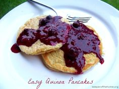 Easy quinoa pancakes- gluten,dairy and sugar free!