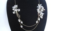 Akoya Pearl Necklace White Pearl Necklace by BeadPassionbyAB