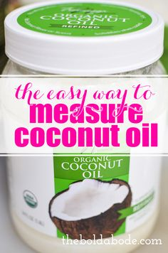 Here's a little secret for how to measure coconut oil - or shortening, if anyone still uses that anymore! You'll get a more accurate measurement and have some scientific fun while you bake! Coconut Oil For Acne, Cooking With Coconut Oil, Coconut Oil Uses, Benefits Of Coconut Oil, Organic Coconut Oil, Organic Oil, Coconut Flour, Thing 1, Baking Tips