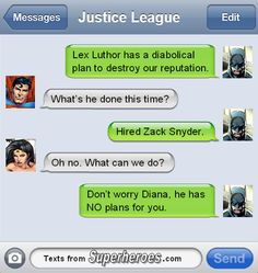 The League faces their greatest threat of all time.  http://textsfromsuperheroes.com/