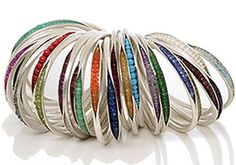 Nina Basharova: 'The Pea Pod Collection' sterling and bead bracelets Jewelry Crafts, Jewelry Art, Jewelery, Jewelry Bracelets, Silver Jewelry, Bangles, Handmade Bracelets, Handmade Jewelry, Metal Beads
