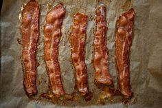 Bacon in the oven...