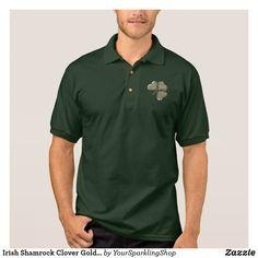 Irish Shamrock Gold Look Clover Ireland Love Shirt #ireland #shamrock #stpatricksday #menstyle