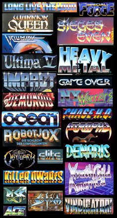 Image result for 80s logos