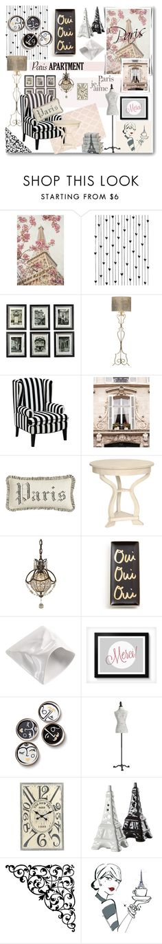 """Paris Apartment"" by j-sharon on Polyvore featuring interior, interiors, interior design, home, home decor, interior decorating, Camp, Uttermost, Universal Lighting and Decor and French Laundry Home"