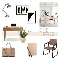 """""""Home Office"""" by helenevlacho ❤ liked on Polyvore featuring interior, interiors, interior design, home, home decor, interior decorating, Office Star, Robert Abbey, Pottery Barn and Monde Mosaic"""