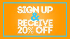 Sign Up & Receive 20% Off at shop.cooperhewitt.org/signup