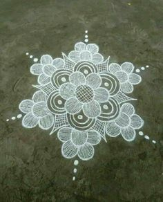 dot rangoli designs online for festivals and occasions. Browse over hundreds of similar images, ideas and wallpapers to try. Rangoli Designs Latest, Simple Rangoli Designs Images, Rangoli Designs Flower, Rangoli Border Designs, Small Rangoli Design, Rangoli Patterns, Rangoli Ideas, Rangoli Designs Diwali, Rangoli Designs With Dots