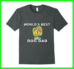 Mens World's Best Dog Daddy Funny Father's Day Love Gift T-Shirt Small Dark Heather - Holiday and seasonal shirts (*Amazon Partner-Link)