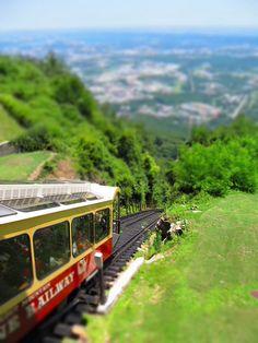 Incline Railway, Chattanooga Tennessee #train #tiltshift