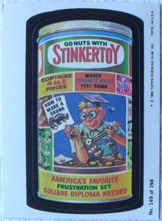 The 1980 edition of the 1970s spoof stickers that became a pop cultural phenomenon.