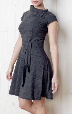 Hey, I found this really awesome Etsy listing at http://www.etsy.com/listing/99381996/snap-neck-dress-in-gray-heather
