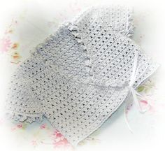 silver organic cotton crochet baby girls by crochetyknitsnbits, £34.99