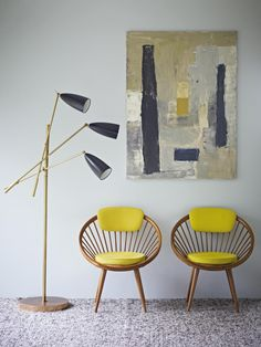 Adore the chairs, love the yellow- but would it work in a grey english winter? This pin inspires me <3