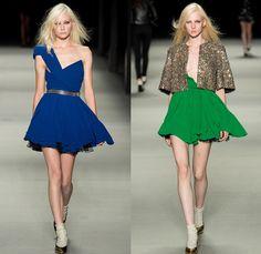 Saint Laurent 2014 Spring Summer Womens Runway Collection - Paris Fashion Week - Mode à Paris - Jean Jacket Motorcycle Biker Leather Robe Ki...
