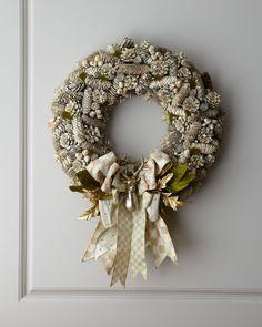 MacKenzie-Childs Parchment Check Wreath - Neiman Marcus