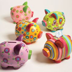 Piggy Bank - One for each of you!! :) I know, you're thinking...I Wish!! lol! ;) All 5 of them are different, and facing different directions.