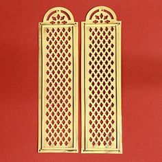 A nice pair of decorative pierced brass fingerplates. Cleaned and polished and ready to fit.