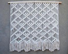40 Large macrame wall hanging Large white tapestry Big