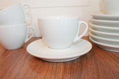 Vintage Espresso Cups, Vintage Coffee Cups, Minimalist Cups, White Espresso Cups,  Set of 7, Vintage Tea Cup, Vintage Latte Cup by Revive58 on Etsy $42.00