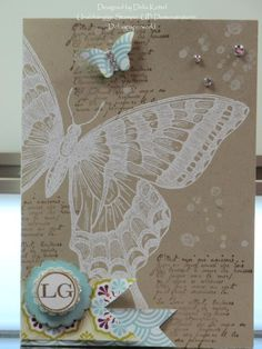 I'd like to do a card similar to this using the Swallowtail stamp and the En Francais background stamp.