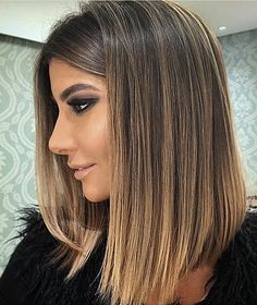 ♥️ Pinterest: DEBORAHPRAHA ♥️ Long bob angled and medium lenght, loved this hair cut, very pretty and chic