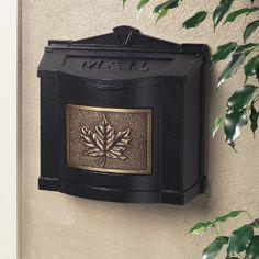 gaines wallmount mailbox black wantique bronze leaf accent home depot canada