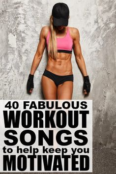 If you're looking for upbeat songs to add to your gym playlist to help you stay motivated in your workout and weight loss goals, this collection of 40 workouts songs is JUST what you need. I'm really digging 5, 7, 10, and 21 right now, but all of these workout songs will keep you pumped and (hopefully) give you the motivation you need to get back in shape (and stay in shape). Good luck!