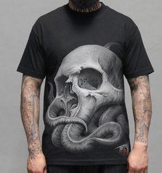 Sullen Tyrrell Octopus Skull Tattoo Tshirt - Vulcinity