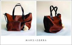 Mars+Zorba chic (with an edge) leather goods Olympia Tan+Godiva shopper bag leather handbags marsandzorba.com