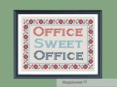 modern cross stitch pattern Office sweet office by Happinesst