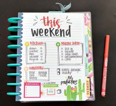 Made myself a weekend TO DO list! Stickers from BIG Rainbow and Happy Girl sticker books! Planner Tips, Planner Supplies, Planner Layout, Planner Pages, Life Planner, Printable Planner, Planner Stickers, Passion Planner, Printables