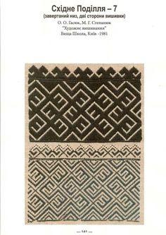 Східне Поділля Folk Embroidery, Cross Stitch Embroidery, Embroidery Patterns, Traditional Outfits, Folk Art, Knitting, Uni, Charts, Collections
