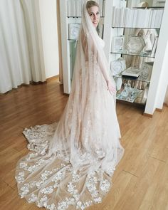Eirini, the winner of our Valentine's Day giveaway, in her BRIGITTE wedding gown! She couldn't have made a better choice 😍 Wedding Gowns, Giveaway, Brides, Valentines Day, Pretty, How To Make, Instagram, Fashion, Homecoming Dresses Straps