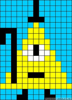 Bill Cipher - Gravity Falls perler bead pattern