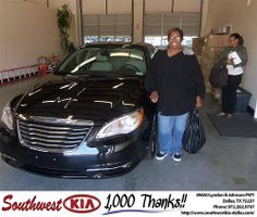 Happy Anniversary to Nedra Robertson on your 2011 #Chrysler #200 from Rudolph III and everyone at Southwest Kia Dallas! #Anniversary