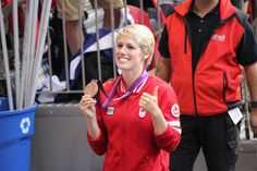 Sophie Schmidt of the Canadian Women's National Team showing off her London 2012 Olympic Bronze Medal at the Vancouver Whitecaps game on August Female Football Player, Football Players, Sophie Schmidt, August 15, Sports Women, Vancouver, Olympics, Canada, Bronze