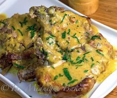 This recipe for Slow Cooker Pork Chops with Golden Ranch Gravy is an easy pork chop recipe that's jam-packed with flavor. All you need are pork chops, cream of chicken soup, ranch dressing mix, and butter. Crock Pot Slow Cooker, Crock Pot Cooking, Slow Cooker Recipes, Crockpot Recipes, Cooking Recipes, Crock Pots, Delicious Recipes, Cooking Pork, Yummy Food
