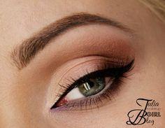 'Sweet Brown' look by Julia-B using Makeup Geek's Bada Bing, Brown Sugar, Cinderella, Ice Queen, Latte, Sensuous, Shimma Shimma, and Wisteria eyeshadows along with Immortal gel liner.