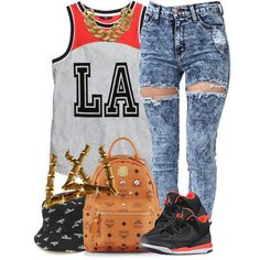 LA Hundreds., created by livelifefreelyy on Polyvore