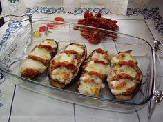 Berenjenas Rellenas de Mozzarella y Tomate Seco  El Recuncho de Sol