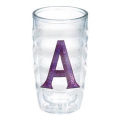 Tervis Tumbler Initials Sequins 10 Oz. Wavy Tumbler Initial: J, Lid Included: Yes