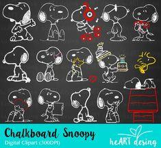 Kit Digital Chalkboard Snoopy
