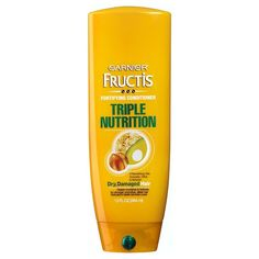 Transform dry, damaged hair with the power of triple restoring action. Garnier Fructis Triple Nutrition Conditioner, with nourishing avocado, olive, and shea oils, penetrates deep into the hair to deeply nourish and restore for strength, smoothness and shine. <BR/> <BR/> 3 powerful oils: avocado, olive, and almond <BR/> Helps prevent splits ends <BR/> Improves strength <BR/>...