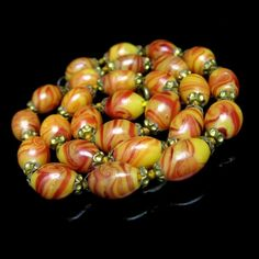#ArtDeco Era Czech Italian #Glass Beads #Necklace Vintage Jewelry from #MyClassicJewelry #GotVintage