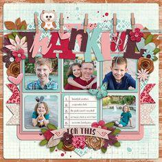 Cindy's Single 115 - Thankful v. 4 Fall in Love - Meg Mullens & Digital Scrapbook Ingredients
