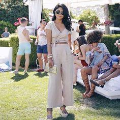 Coachella street style via @walkinwonderland. Brax jumpsuit on fleek at the festival.